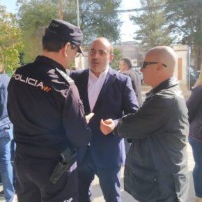 Cs Ciudad Real apoya la concentración en la Jefatura de la Policía Nacional en apoyo al trabajo de sus compañeros en Cataluña
